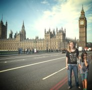 kids in front of parliment london