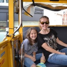 kids on the london duck bus tour
