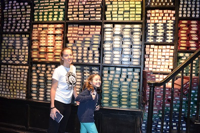 on the set of harry potter