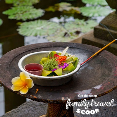 bali flower offering