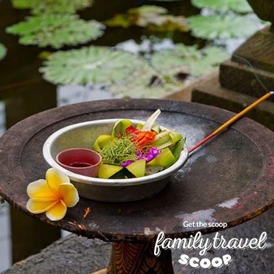 bali flower offering