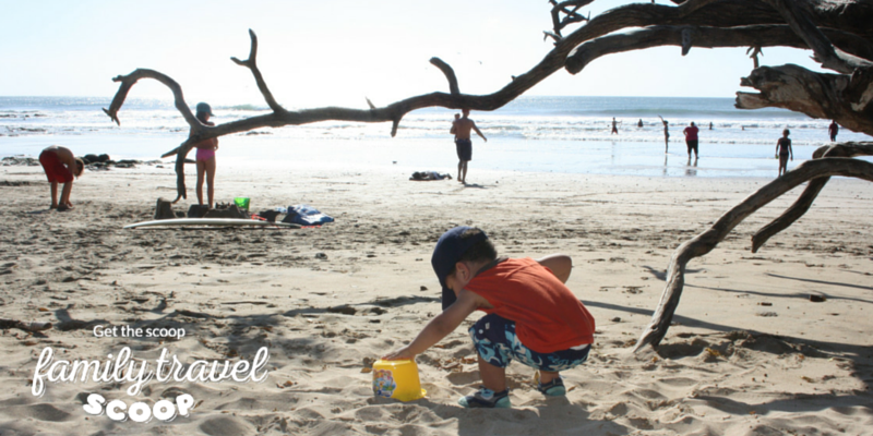 Baby on beach in Costa Rica