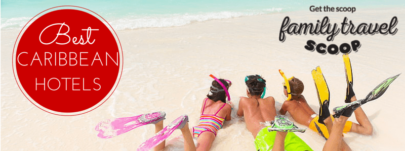 Caribbean hotels kids on a beach