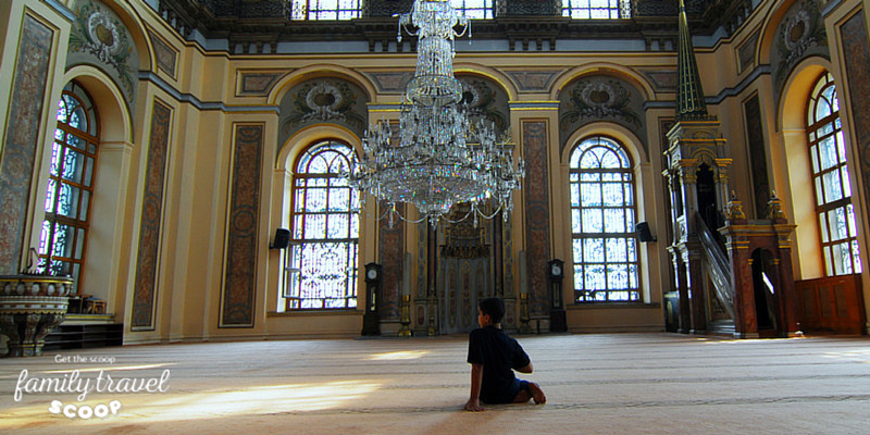 Boy in Mosque in Istanbul