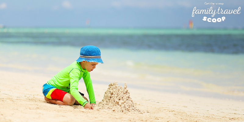 Building sand castles in Punta Cana