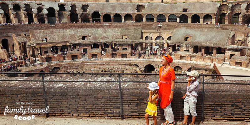 Family at Colloseum in Rome