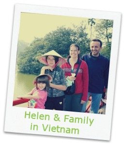 Helen with kids in Vietna