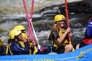 teens rafting