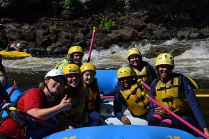 family rafting in Ontario