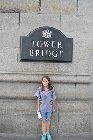 girl outside tower of london
