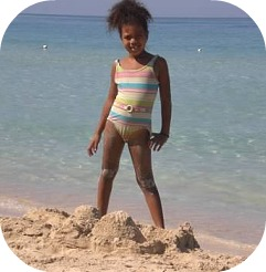 child on Jamaican beac