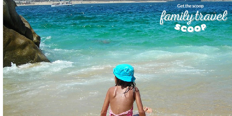 child on the beach in mexico
