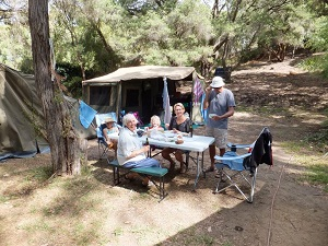 family camping in Australia
