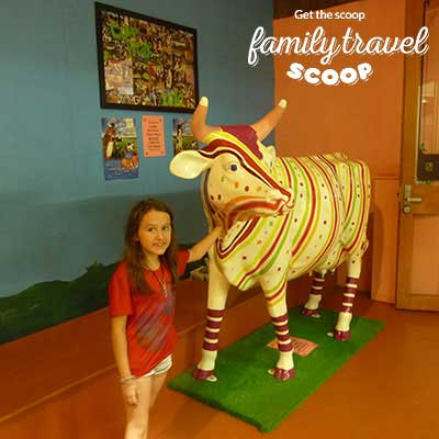 girl at candy cow shop