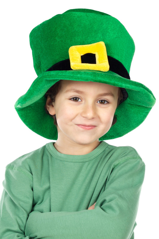irish hat on a child
