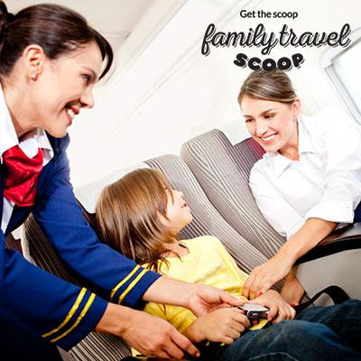 child on a flight
