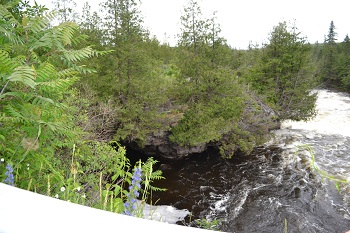 view from the caves at eganville