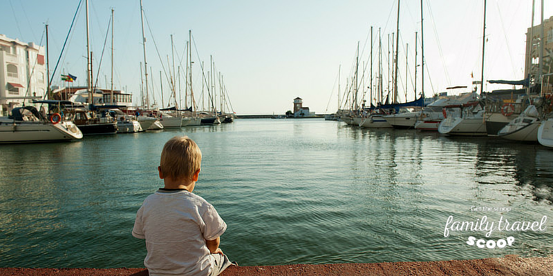 Little Boy in Crete Harbour