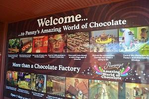 sign at chocolate factory
