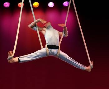acrobat in a show
