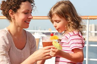 child with mother on cruise ship