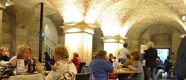 inside cafe in the crypt london