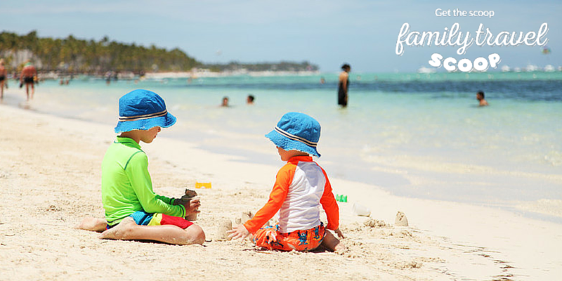 toddlers on the beach in Dominican Republic