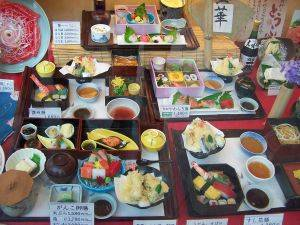 plastic fake food display in Japan