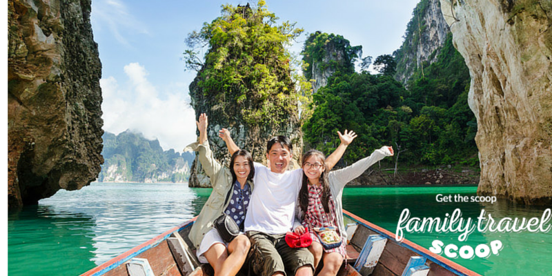 Family boat ride in Thailand