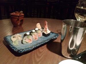 sushi at flesh and buns