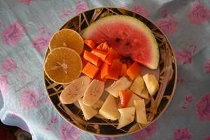 exocitc fruit platter in Cuba