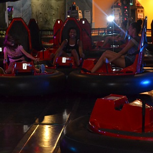 bumper cars at funhaven