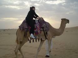 helen on a camel