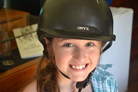 girl with rider hat