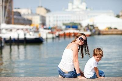 Mother and Child in Helsinki