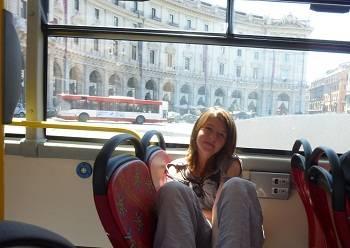 hopon hop off bus in Rom