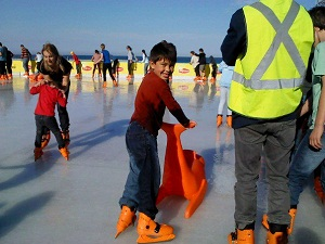 ice skating at Bondi beach