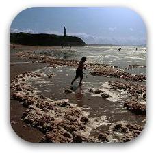 child on irish coastline