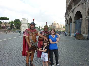 Gladiators at the Colosseum in Rome