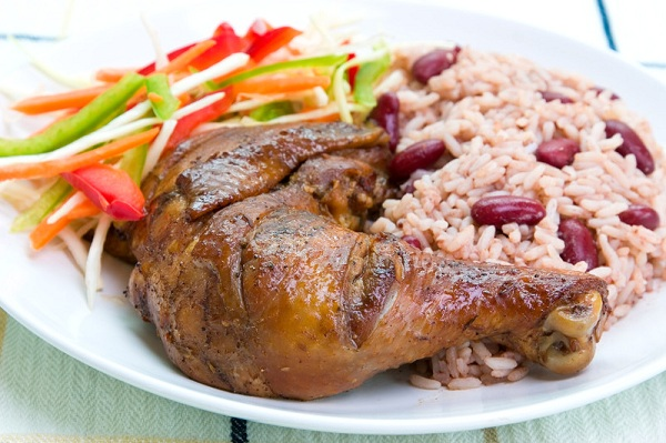 jerk chicken rice and peas