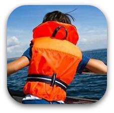 kid in a lifejacket