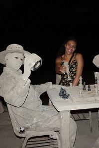 Human Sand Sculptures on the malecon in Puerto Vallarta