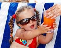 girl in a sun lounge