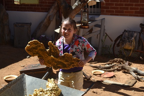 girl at the Perth Mint