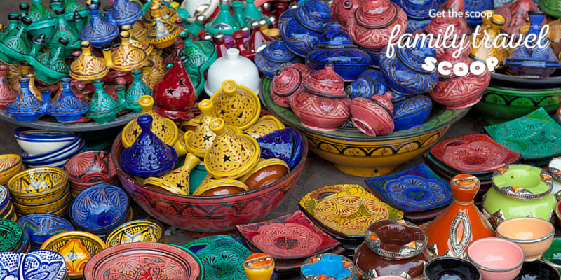 Pottery at the market in Morocco