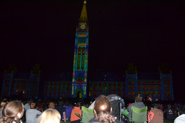 in front of parliment hill