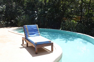 by the pool in costa rica