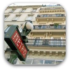 paris subway sign