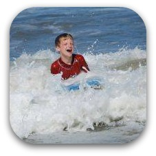 boy in the ocean