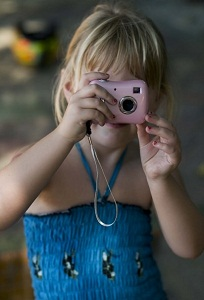 girl taking a photo